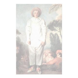 ANTOINE WATTEAU - Pierrot (Gilles) 1718 Stationery