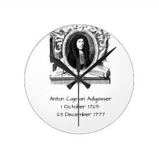 Anton Cajetan Adlgasser Round Clock