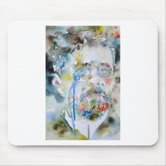 anton chekhov - watercolor portrait.1 mouse pad