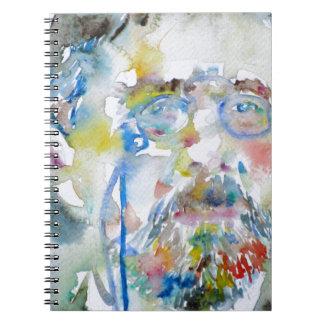 anton chekhov - watercolor portrait.1 notebook