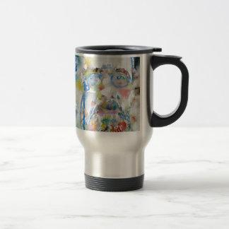 anton chekhov - watercolor portrait.1 travel mug