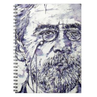 anton chekhov - watercolor portrait.2 spiral notebook