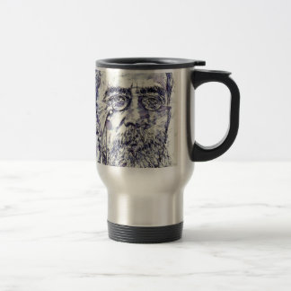 anton chekhov - watercolor portrait.2 travel mug
