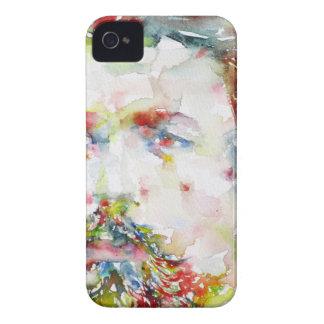 anton chekhov - watercolor portrait.3 iPhone 4 case