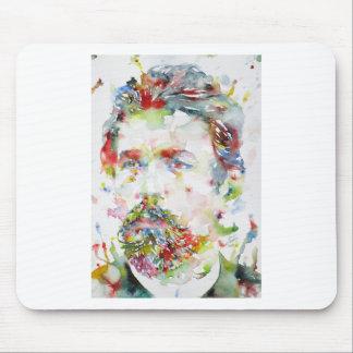 anton chekhov - watercolor portrait.3 mouse pad