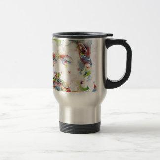 anton chekhov - watercolor portrait.3 travel mug