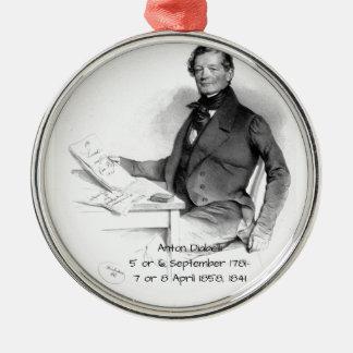 Anton Diabelli Metal Ornament