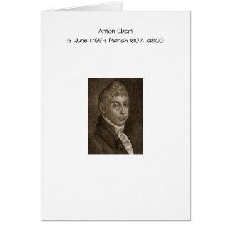 Anton Eberl c1800 Card