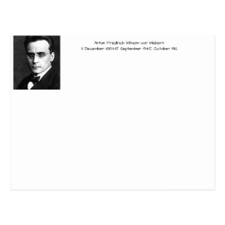 Anton Friedrich Wilhelm von Webern Postcard