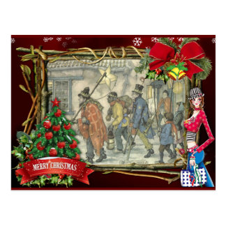 Anton Pieck christmas greetings Postcard