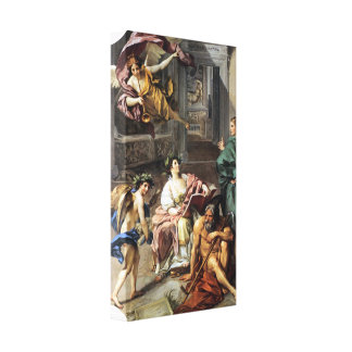 Anton Raphael Mengs - Allegory of History Stretched Canvas Prints