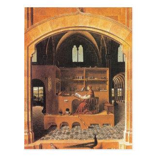 Antonello da Messina - St Jerome in his Study (145 Postcard