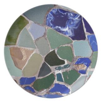 Antoni Gaudi Blue Mosaics Plate