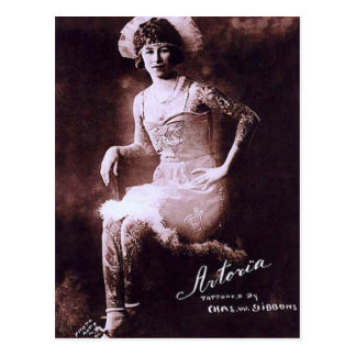 Antonia the Tattooed Lady Postcard