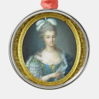 Antoniette et Paris Silver-Colored Round Decoration