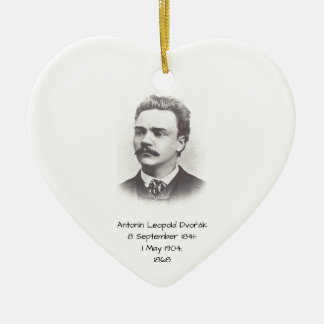 Antonin Leopold Dvorak 1868 Ceramic Ornament