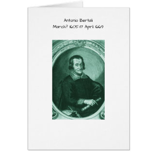 Antonio bertali card