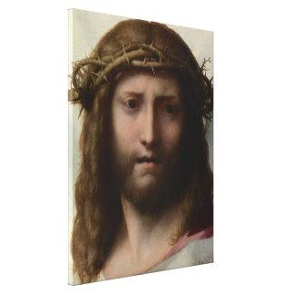 Antonio da Correggio - Head of Christ Canvas Print