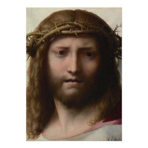 Antonio da Correggio - Head of Christ Personalized Invitations