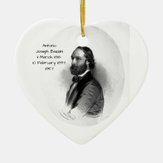 Antonio Joseph Bazzini 1857 Ceramic Ornament