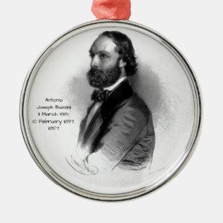Antonio Joseph Bazzini 1857 Metal Ornament