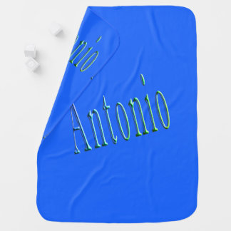 Antonio, Name, logo, Baby Boys Blue Blanket. Baby Blanket