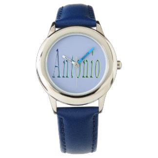 Antonio, Name, Logo,  Boys Leather Watch. Watch