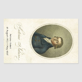 Antonio Salieri Rectangular Sticker