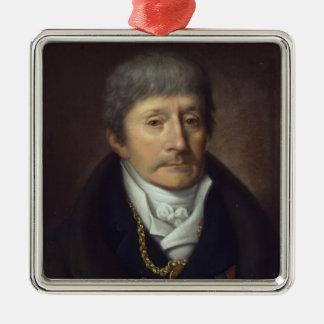 Antonio Salieri Silver-Colored Square Decoration