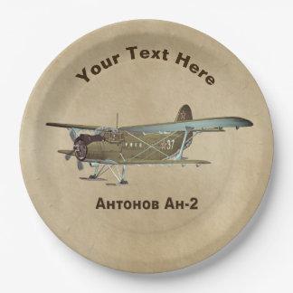 Antonov An-2 Airplane Paper Plate
