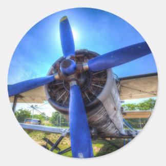 Antonov AN-2 Biplane Classic Round Sticker