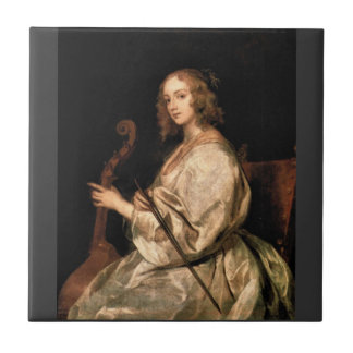 Antoon van Dyck - Portrait of Mary Ruthven wife of Ceramic Tiles