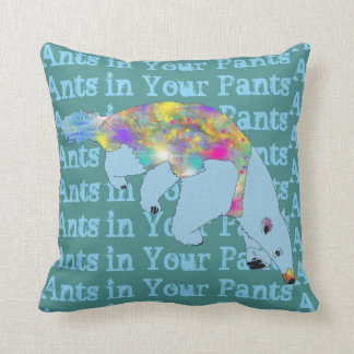 Ants in Your Pants Blue Anteater Animal Art Cushion