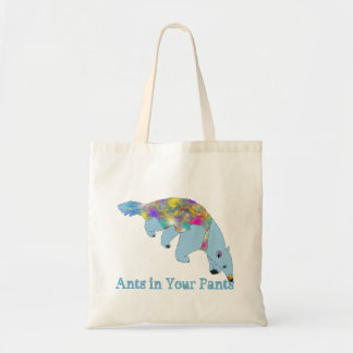 Ants in Your Pants Blue Anteater Animal Art Tote Bag