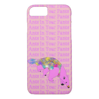 Ants in Your Pants Bright Pink Anteater Animal Art iPhone 8/7 Case