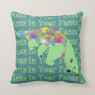 Ants in Your Pants Green Anteater Animal Art Cushion