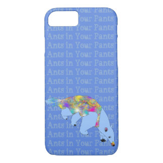 Ants in Your Pants Pale Blue Anteater Animal Art iPhone 8/7 Case