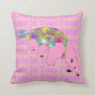 Ants in Your Pants Pale Pink Anteater Animal Art Cushion