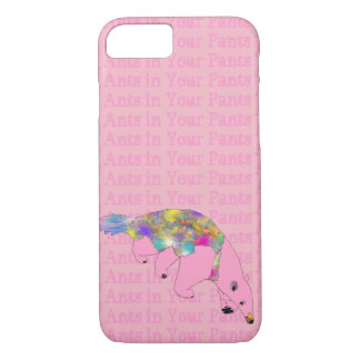 Ants in Your Pants Pink Anteater Animal Art iPhone 8/7 Case