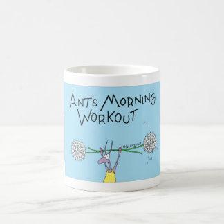 Ant's morning workout coffee mug