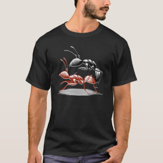 Ants on black T-Shirt