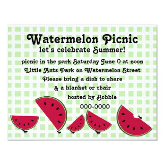 Ant's Watermleon Picnic Card