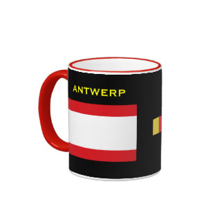 Antwerp* Belgium Flag & Crest Mug