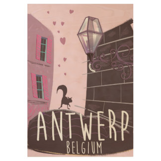 Antwerp, Belgium Travel poster