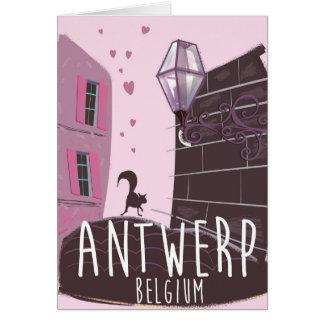 Antwerp, Belgium Travel poster Card