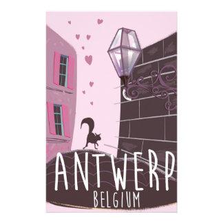 Antwerp, Belgium Travel poster Stationery