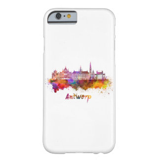 Antwerp skyline in watercolor barely there iPhone 6 case