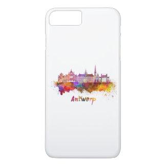 Antwerp skyline in watercolor iPhone 8 plus/7 plus case