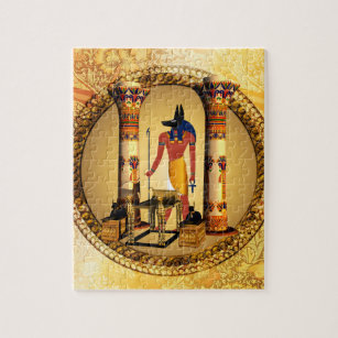 Anubis, ancient Egyptian god of the dead rituals Jigsaw Puzzle
