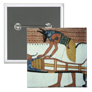Anubis and a Mummy, from the Tomb of Sennedjem Pinback Buttons